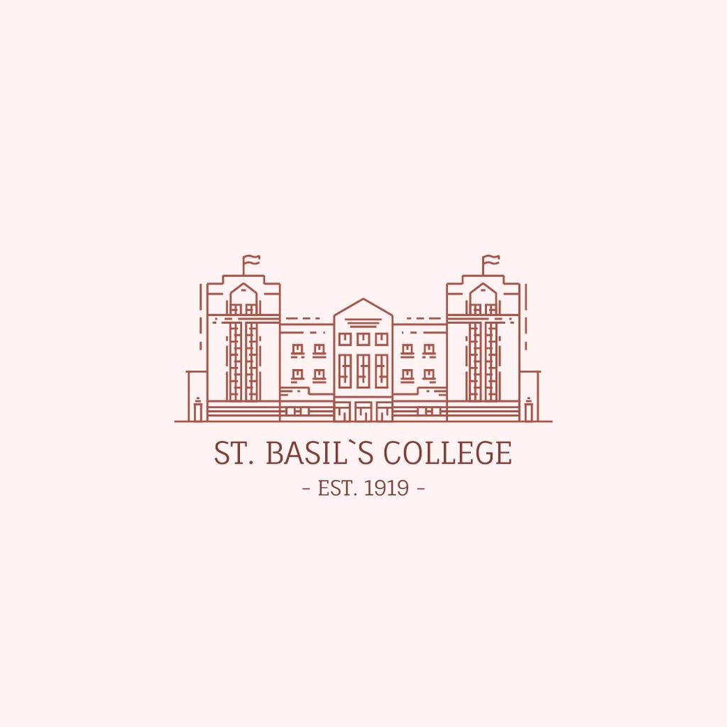 College Campus Building Icon — Crear un diseño