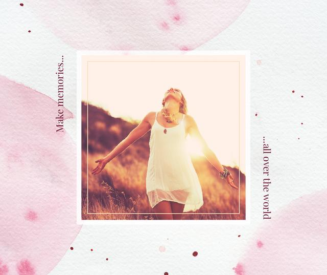 Template di design Woman dancing in sunlight Facebook