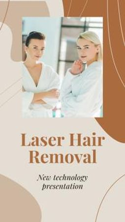Template di design Laser Hair Removal procedure overview Mobile Presentation