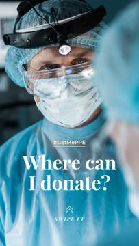 #GetMePPE Donation Ad with Doctor in protective suit