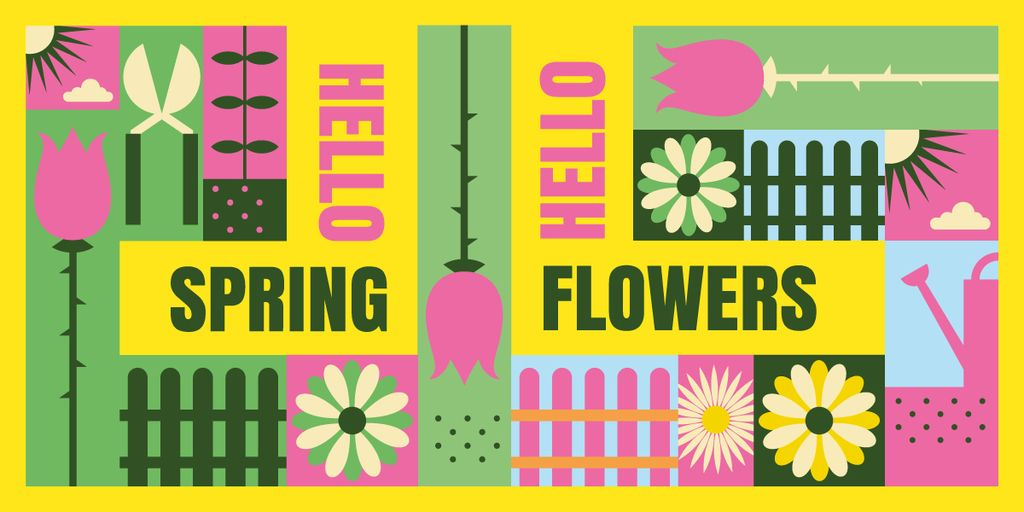 Bright blooming flowers — Create a Design