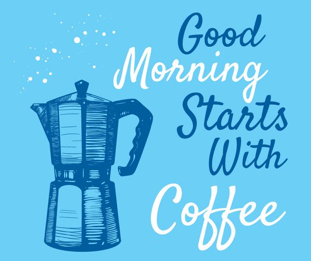 Moka pot with hot Coffee Facebook – шаблон для дизайна
