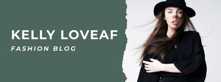 Modèle de visuel Fashion blog ad with Stylish Woman - Facebook cover