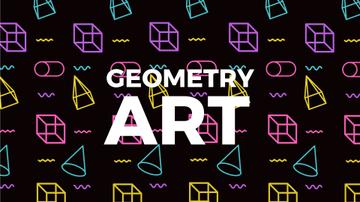 Moving Geometric Figures on Black | Full Hd Video Template