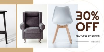 Furniture Sale Armchairs in Grey | Blog Image Template