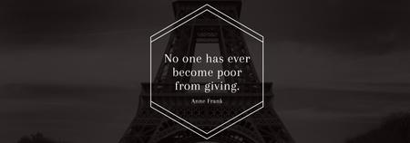 Charity Quote on Eiffel Tower view Tumblr Design Template