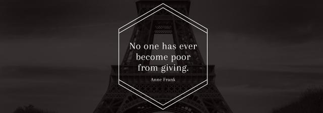 Charity Quote on Eiffel Tower view Tumblr – шаблон для дизайну