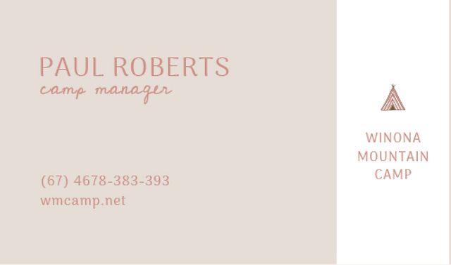 Camp manager Services Offer Business card Tasarım Şablonu
