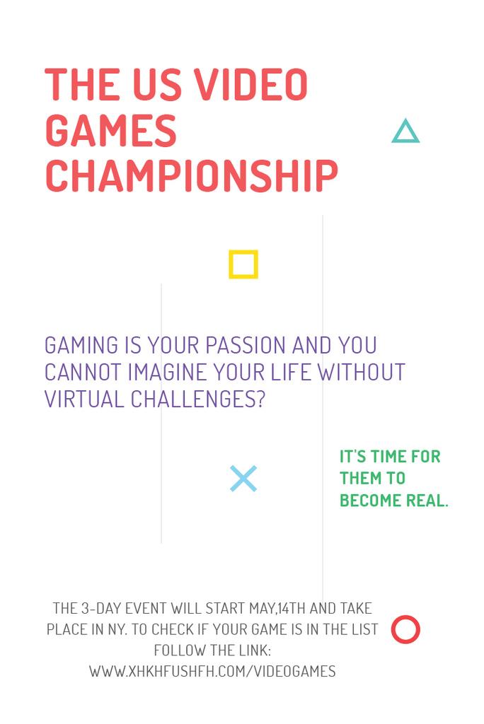 Video games Championship Announcement Pinterest Tasarım Şablonu