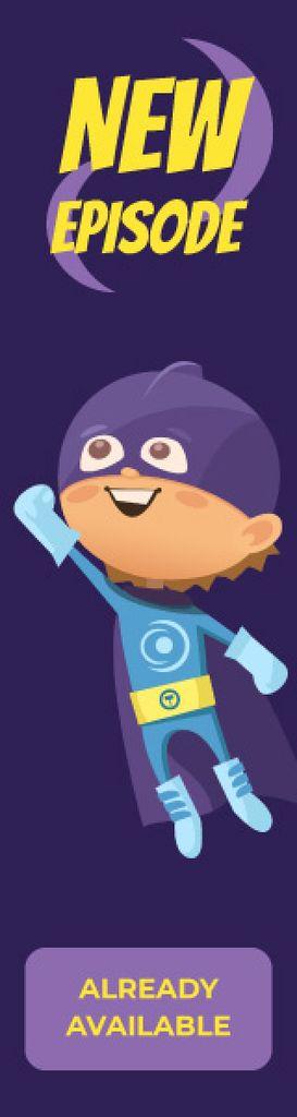 Boy in Superhero Costume Flying — Create a Design
