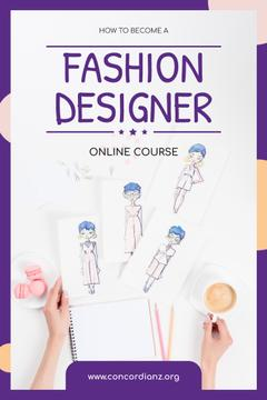 Fashion Design Online Courses with Collection of Drawings