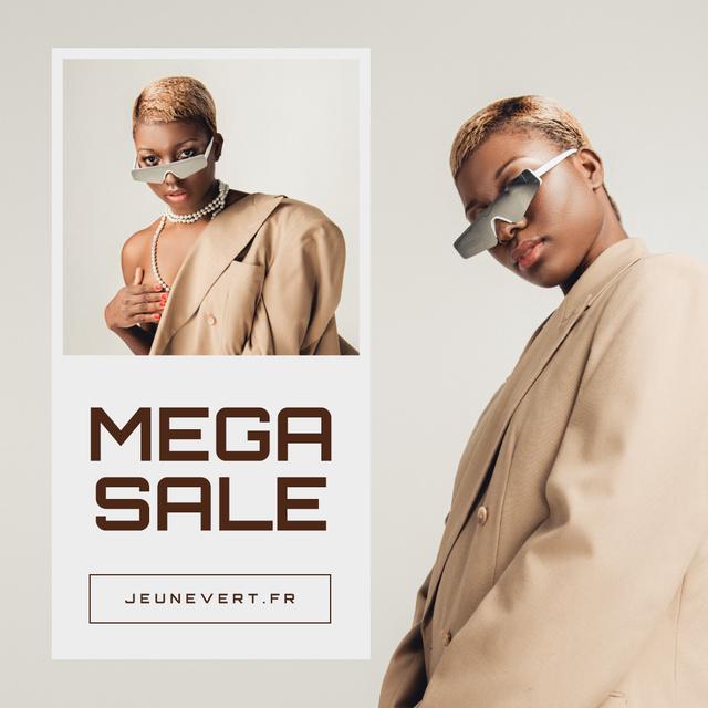 Modèle de visuel Fashion Store Sale Woman in Sunglasses - Instagram