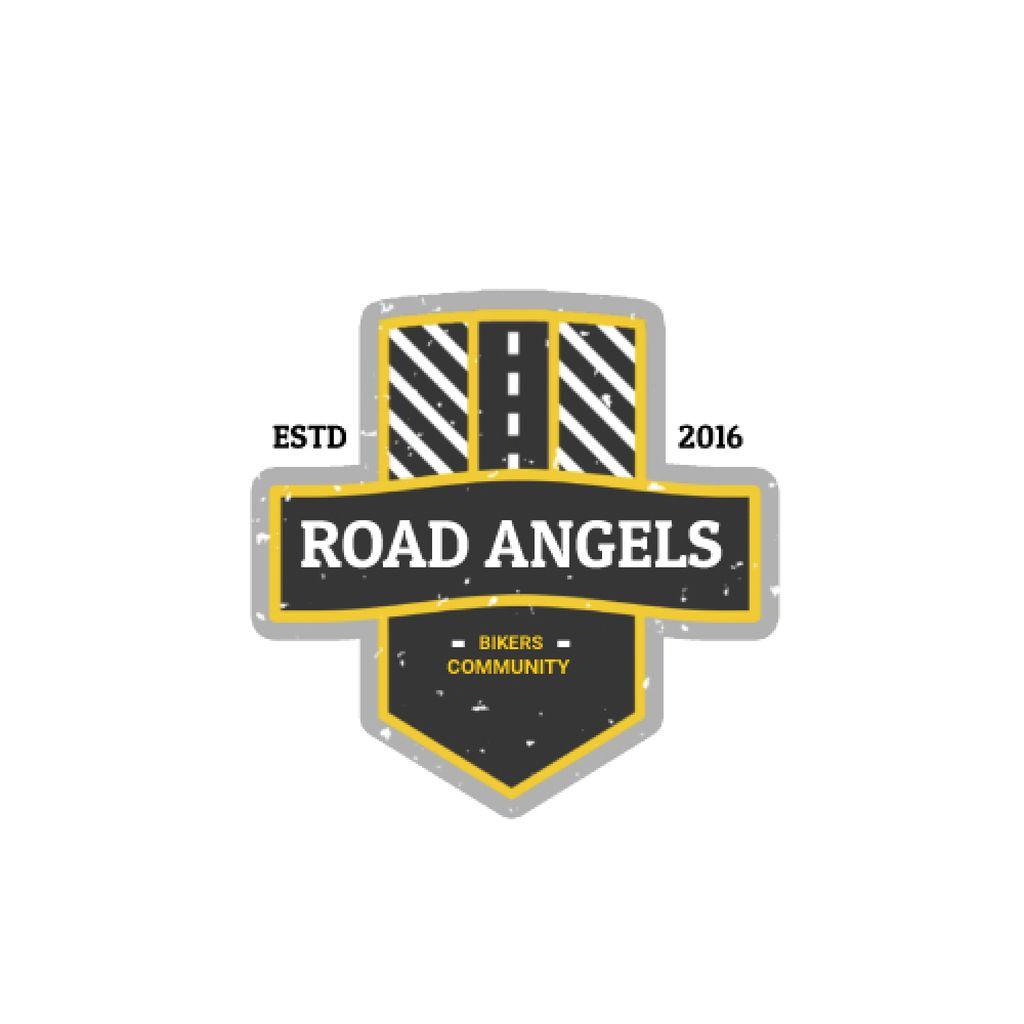 Bikers Community with Road Symbol — Crear un diseño