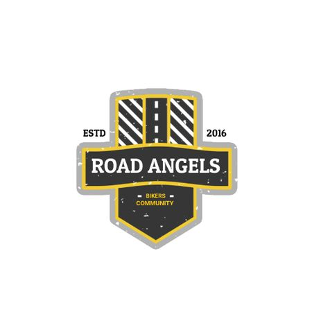 Plantilla de diseño de Bikers Community with Road Symbol Animated Logo