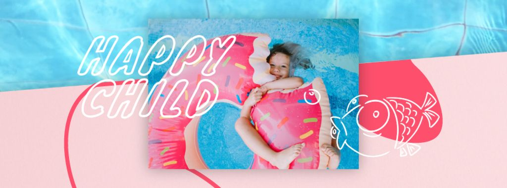 Girl swimming in pool — ein Design erstellen