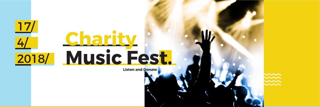 Music Fest Invitation Crowd at Concert — ein Design erstellen