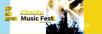 Music Fest Invitation Crowd at Concert | Twitter Header Template