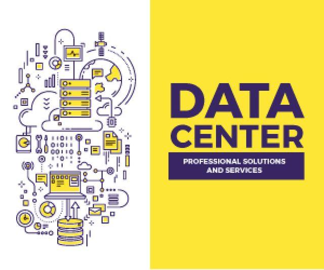 Data center poster Medium Rectangle Modelo de Design