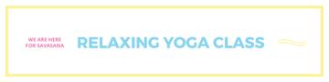 Relaxing yoga class