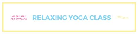 Relaxing yoga class Twitter Modelo de Design