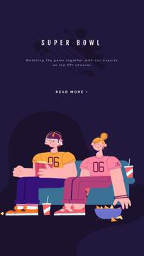Super Bowl Translation Excited Fans | Vertical Video Template
