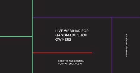 Plantilla de diseño de Live webinar for handmade shop owners Facebook AD