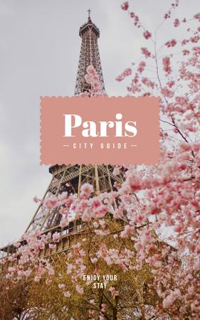 Paris famous travelling spot Book Cover Modelo de Design