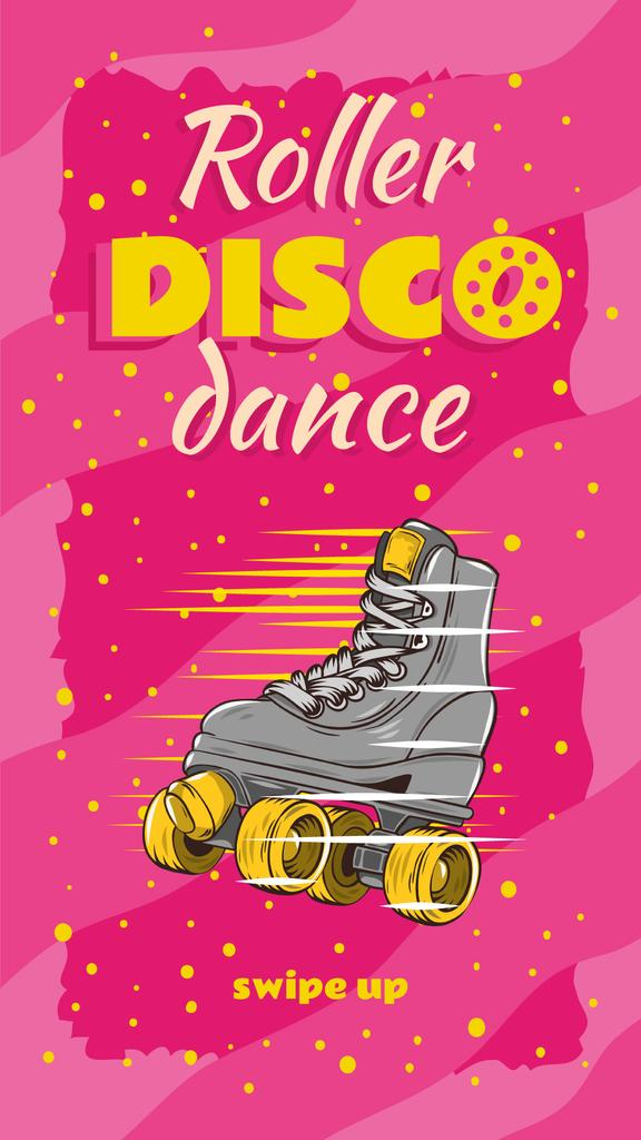 Retro roller skate Party Annoucement — Crea un design