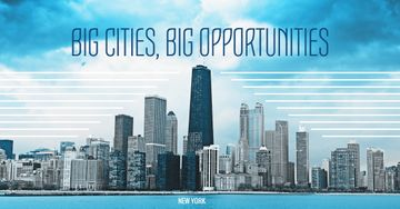 Big city opportunities with skyscrapers