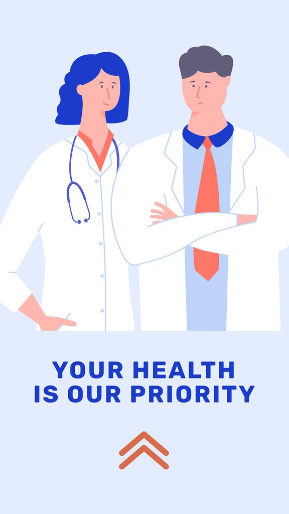 Medical Services with Doctors Team — Créer un visuel