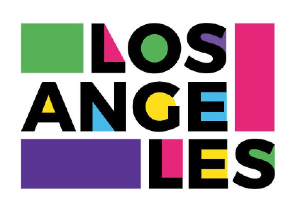 Los Angeles poster — Créer un visuel