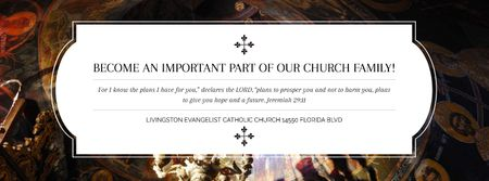 Template di design Evangelist Catholic Church Invitation Facebook cover