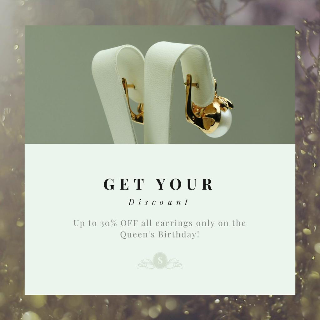 Golden earrings with pearls — Create a Design