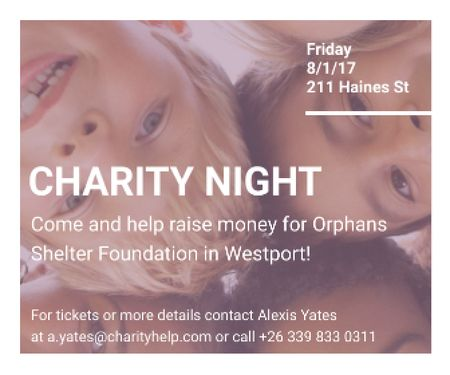 Template di design Corporate Charity Night Large Rectangle