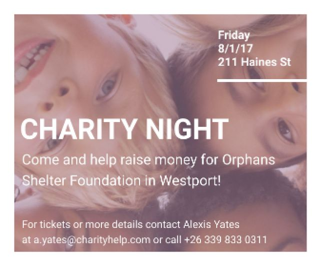 Corporate Charity Night Large Rectangle Design Template