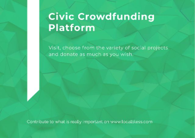 Template di design Crowdfunding Platform ad on Stone pattern Postcard