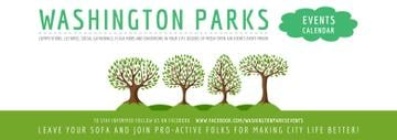 Park Event Announcement Green Trees | Tumblr Banner Template