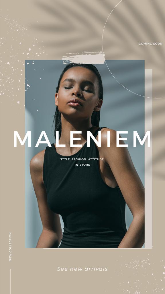 Fashion Shop Offer with Young Woman — Modelo de projeto