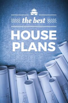 House plans Ad with blueprints