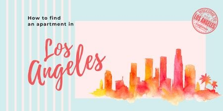 Modèle de visuel Los Angeles city painting - Image