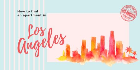 Plantilla de diseño de Los Angeles city painting Image