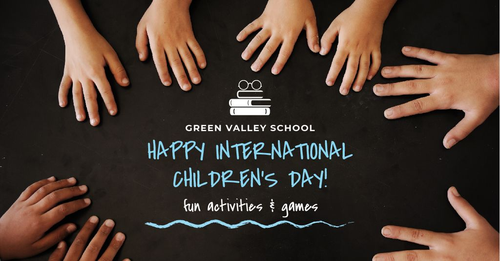 International Children's Day in Green Valley school — Maak een ontwerp