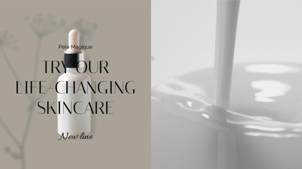 Natural Cosmetics Ad with Splash of milk — Crear un diseño