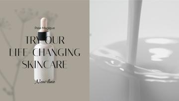 Natural Cosmetics Ad with Splash of milk