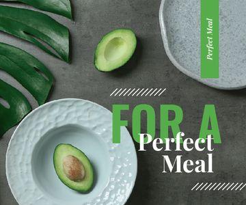 Green Avocado Halves on Table