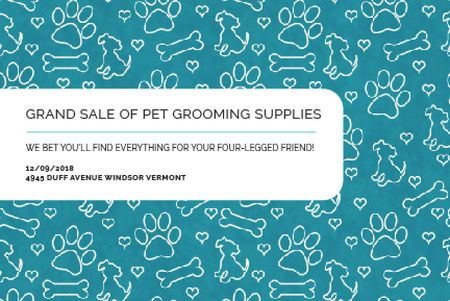 Plantilla de diseño de Grand sale of pet grooming supplies Gift Certificate