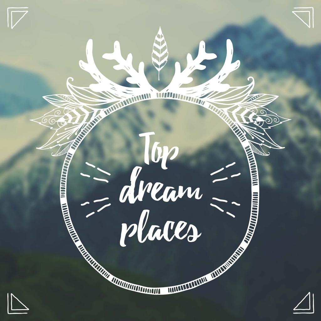 Top dream places poster — Maak een ontwerp