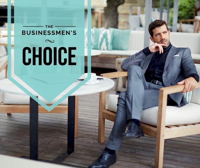 Designvorlage Businessman wearing Stylish Suit für Facebook