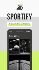 Sport events broadcasting App promotion