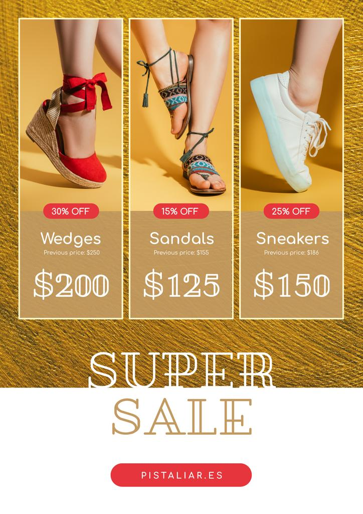 Fashion Sale with Woman in Stylish Shoes — ein Design erstellen